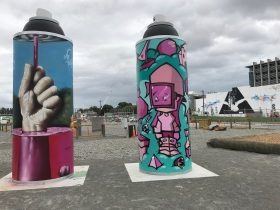 Spray Cans, Street art Christchurch